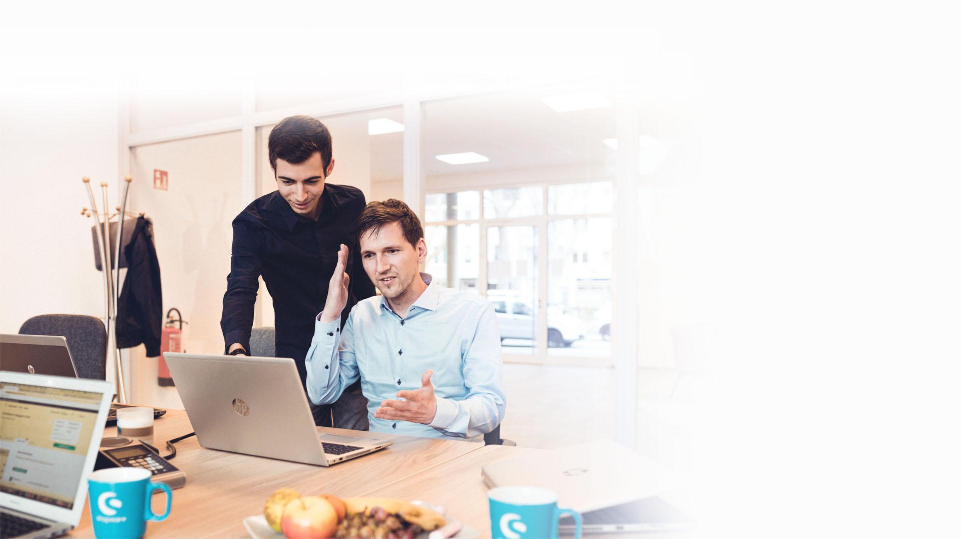 codegiganten Webentwickler Frontend/Backend Timo Deutschmann und Software-Entwickler/Fachinformatiker Philipp Georg